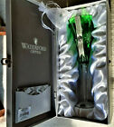BOX St Patricks Waterford Snowflake Wishes Courage Green Champagne Flute Glass