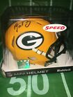 Aaron Rodgers #12 Autographed Green Bay Packers, Speed Mini Helmet - COA