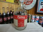 CHEERWINE SODA SYRUP CLEAR GLASS JUG SALISBURY NC RED PAPER LABEL