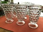 6 FINE FOSTORIA AMERICAN CLEAR GLASS ICED TEA GOBLET 5 3 4 GLASSES FOOTED Flare
