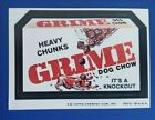 1974 WACKY PACKAGES SERIES 7 TAN BACK GRIME @@ HEAVY CHUNKS @@  NM++