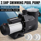 25HP In Ground Swimming Pool Pump Hayward Spa Motor Strainer Above Ground