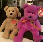 Lot Of Two Millieum & 1999 Signature Beanie Teddy Bears Hang & Tush Tags