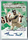 WILLIE MAYS 2003 TOPPS RECORD BREAKERS ON CARD AUTO AUTOGRAPH SSP