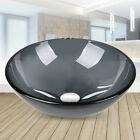 Bathroom Vessel Sink Countertop Glass Round Wash Basin Bowl with Pop Up Drain