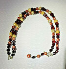 MIRIAM HASKELL 14 NECKLACE MIXED COLOR CRYSTAL ART GLASS  BAROQUE PEARLS