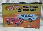 VINTAGE MATTEL HOT WHEELS COLLECTORS RACE CASE with 48 Cars + More