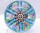 Beautiful 1980 Ltd Ed Perthshire Paperweight PP41 Teal Blue FREE SHIPPING