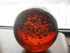 Vintage Large Brown Amber Glass Ball 3 12 with lots of Bubbles