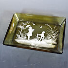 Antique Mary Gregory Rectangular Plate Older Girl and Boy Excellent