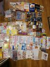 Huge Lot Scrapbooking Stickers Ink Pads Cardstock Accessories Some New Used