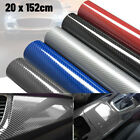 6d Car Interior Wrap Sticker Glossy Carbon Fiber Vinyl Film Car Auto Accessories