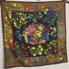 Vintage Gucci Butterfly  Floral Design Italian Silk Scarf Multi Color EVC