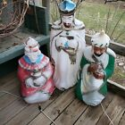 Vintage Three Wisemen and Rare Angel Christmas Holiday Blow Molds