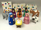 1993 Avon Kids My First Christmas White Nativity Collection 9 Piece Set in Boxes