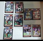 """1989 Starting Line Up Football """"One On One"""" 9 card lot."""