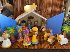 Wooden NATIVITY Wood Block Set Colorful Set