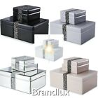Julien Macdonald Rock Crystal Boxes Choice Colour Sizes Glamour Glass Mirrored