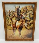 Native American Indian Camp Chief  Horses Framed 1000 Piece Jigsaw Puzzle