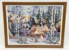 Native American Indian Winter Bear Camp Painting Framed 1000 Piece Jigsaw Puzzle