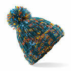 Twister Pom Beanie Hat Chunky Winter Warm Woolly Bobble BC487