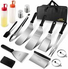16pcs Griddle Accessories Kit Flat Top Grill Stainless Steel BBQ Tool Set w Bag