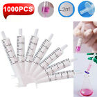 100pcs 2ml Plastic Pp Syringe Hydroponics Nutrient Measuring Lab Disposable Us