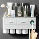 Automatic Toothbrush Holder Magnetic Cup Storage Wall Rack Toothpaste Dispenser