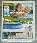 BRAND NEW INTEX 12 FT X 30 IN EASY SET ABOVE GROUND POOL WITH FILTER PUMP 12x30