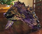 Art Glass Studio Fish Sculpture 12 Custom Handmade Artist Signed Purple