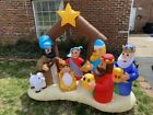 NATIVITY SCENE W 3 KINGS 6 FOOT EXCELLENT CONDITION AIRBLOWN INFLATABLE