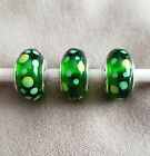 Pandora Murano Green Bubbles Sterling Silver Charms Set of 3 Retired 790696