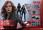 Hot Toys Black Widow Captain America Civil War MMS365 Avengers New in Box