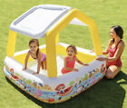 Intex Inflatable Kids Pool With Removable Sun Shade Canopy