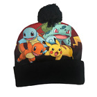 Pokémon Black and Red Multicolor Winter Insulated Beanie Hat