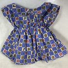 Build A Bear Pinafore Dress Squares Flowers Retired Vintage Hard to Find BABW
