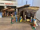 Vintage SEARS made in Italy Christmas hand painted nativity set 7197581 W BOX