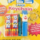 Vintage Pez Keychain ~ Clown ~ Bozo The Clown 931-0 Basic Fun Never Opened Card