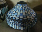 Blue and white 141 2 inch diameter perfect condition stained glass lampshade