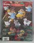 Bucilla Baby Jesus Nativity Set of 8 Felt Jeweled Ornaments Craft Kit 84598 NEW