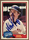 Signed Wade Boggs 2018 Topps Archives #248 Boston Red Sox HOF Auto Autograph