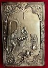 Unique Old Silvered Orthodox icon of the Nativity of Jesus Christ