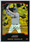 2004 Bowman Chrome Gold Refractor #BDP16 Kevin Youkilis #47 50 Red Sox