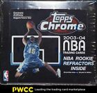 2003-04 Topps Chrome Basketball Factory Sealed Box, 24ct Packs, LeBron RC?