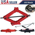 2 Ton Scissor Jack Car Emergency Chrome-plated Crank Lifting Bracket Tool Lifter