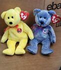 Ty Beanie Buddies Collection Periwinkle And Traddee The Bear
