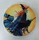 Peggy Karr Retired Halloween Witch Plate Fused Glass 7 3 4