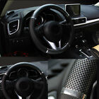 38cm Universal Carbon Fiber Leather Car Steering Wheel Wrap Cover Accessories