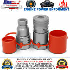3 4 NPT Flat Face Hydraulic Quick Connect Couplers Couplings Skid Steer Bobcat
