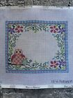 Floral Owl Birth Announcement by Alice Peterson Handpainted Needlepoint Canvas